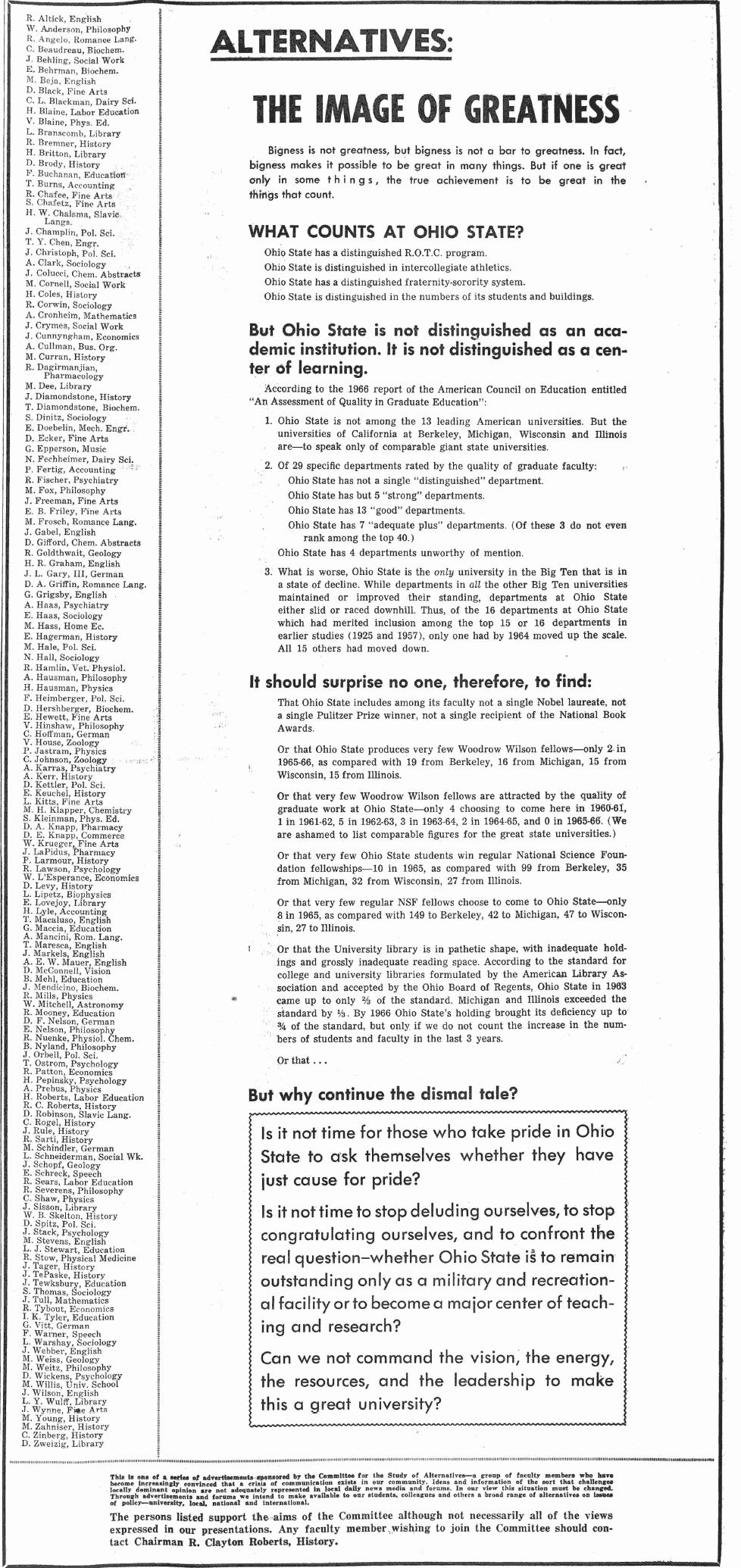 The Ohio State University Press: Ohio State University in the Sixties
