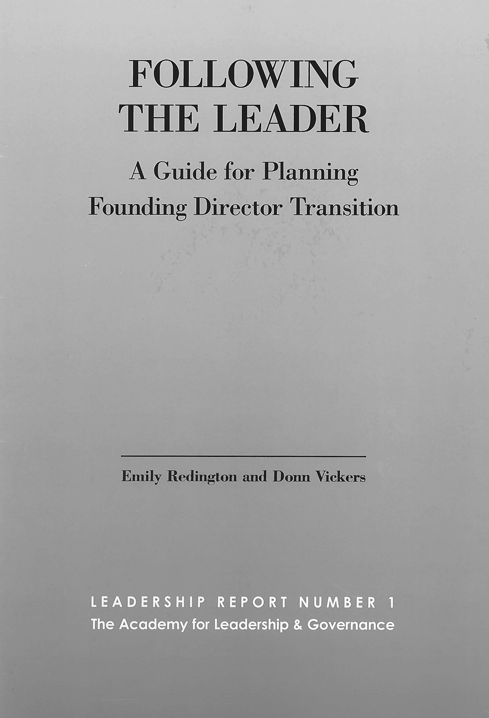 Following the Leader book cover