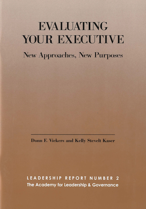 Evaluating Your Executive book cover