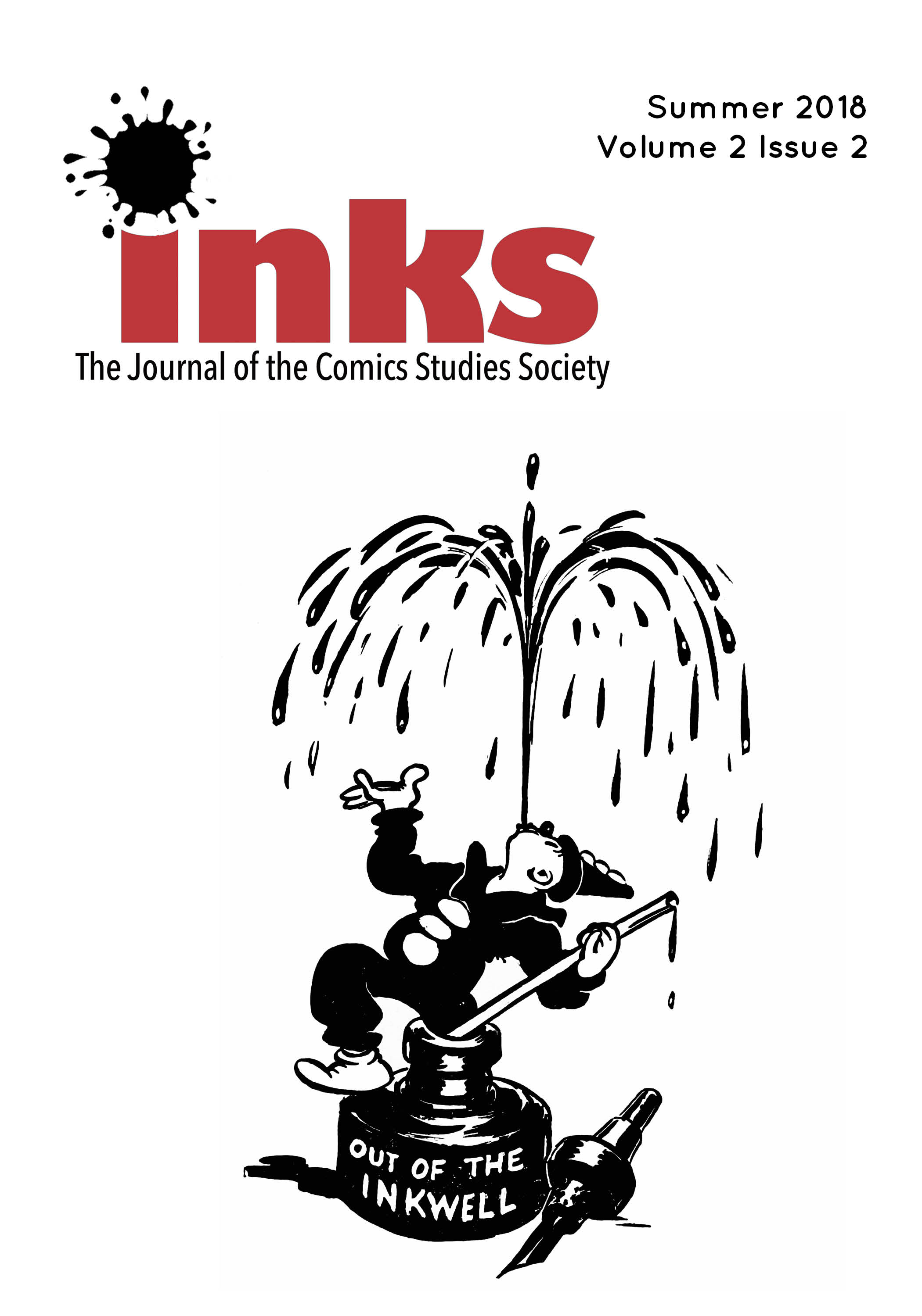 Cover of the journal Inks, volume 2, issue one.